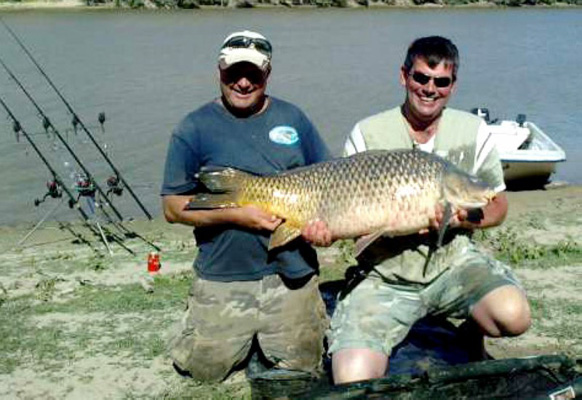 Andrew Swain with a 54lb Common Carp Ebro
